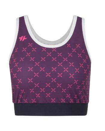 Sports Bra Purple X FRONT